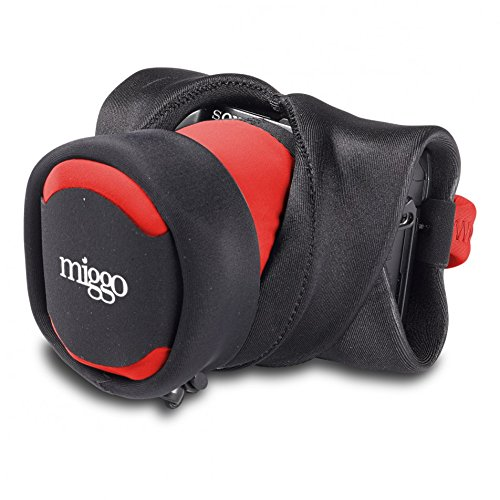 MIGGO Grip und Wrap Strap für Compact System Kameras, Schwarz/Rot Rot Compact Camera Case