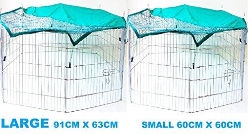 8Panel Pet Gehäuse Laufgitter grün Cover Zaun Hund Meerschweinchen Kaninchen ndh2051