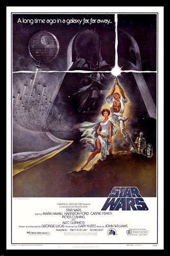 Star Wars Filmposter Sexy Prinzessin Leia & Luke Skywalker Lightsaber, 61 x 36 cm (Reproduktion, kein Original)