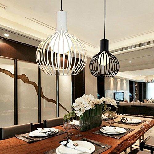 Loft Eisen Kronleuchter / American Bowl Pandent Lampe / Deckenleuchte Industrial Wind Wohnzimmer / Restaurant Creative Round Light, weiß Durchmesser 30cm -