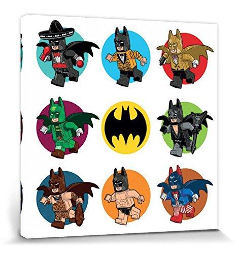 1art1 102585 The Lego Batman Movie - Kostüme Poster Leinwandbild Auf Keilrahmen 40 x 40 cm