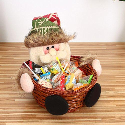 Handwerk Weihnachten Süßigkeiten Korb Dekoration Desktop-Kinder Spielzeug Layout Geschenk Geschenk Weihnachtsmann Schneemann Wapiti, Old Man, - Geliefert Halloween-geschenk-körbe