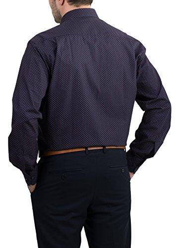 ETERNA Langarm Hemd COMFORT FIT bedruckt Marine