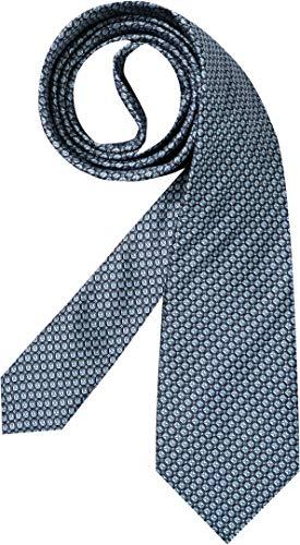 Hugo Boss Herren Krawatte Herren-Accessoire Gemustert, Größe: Onesize, Farbe: Blau