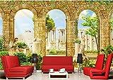 3D Hintergrundbild Griechische Antike Römische Architektur Dekor 3D Wandbilder Tapete Für Wände 3D-210cmX270cm