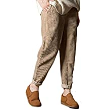 più foto a509b 9c112 Amazon.it: pantaloni velluto donna - Beige
