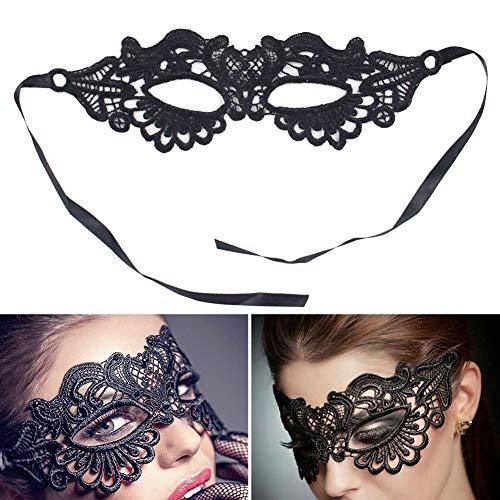 Saniswink Damen Maske mit hohlem Spitzenbesatz, Prinzessin, Abschlussball, Party, Requisiten, Kostüm,