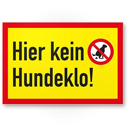 Ici n'est pas pour chien à litière, panneau chien kacken interdit–Interdiction enseigne/chien Interdiction, Interdiction crottes de chien/déjections canines/tas/chien kacke/chien ne Toilette