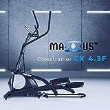 Crosstrainer MAXXUS CX 4.3f | platzsparend klappbar | Bluetooth APP Steuerung | natürliche Laufbewegung | optimal für zuhause