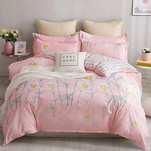 SJRYXCD Bettwäsche Sets Tröster Bettzüge Geometrische Muster Bett Linen Cotton/Polyester Duvet Cover Bed Sheet Pillowcases Cover Set könig Farbe 10 (König Cotton Bed Sheet Sets)