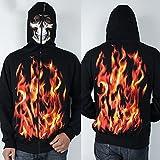 Bushiwo SweatshirtMan Jacke Kopf- und Hoodie 3D Skull Pullover, XXL, an