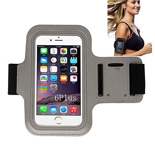 iPhone 66S Sportarmband, CANTOP Sportarmband Schutzhülle für iPhone 66S 55S iPod mit Schlüsseltasche, verstellbar, einfach Kopfhörer Anschluss, Best für Gym, Sport Fitness, Laufen, Training, grau