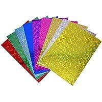 30 fogli A4 di carta olografica, finitura lucida in un assortimento di differenti colori e fantasie (210 mm x 297 mm), ideali per decorazioni natalizie e Festive, di cartoline e altro