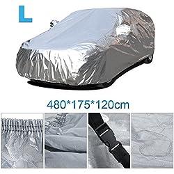Funda para Coche VETOMILE Cubierta del Coche Impermeable Funda de Coche Exterior Anti-UV Transpirable Resistente a Lluvia// Nieve// Polvo 432 /× 165 /× 120cm