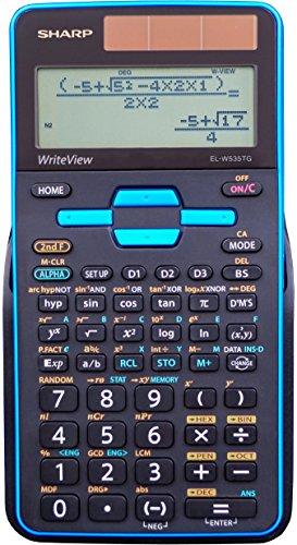 Sharp el-w535tgbbl Wissenschaftlicher Taschenrechner mit ELW531B WriteView 4Line Display, schwarz, blau