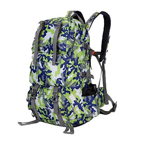 ubagoo Abfalltonne Wasserdicht Wandern Camping Rucksack Outdoor Groß Trekking Bergsteigen Klettern Rucksack Reisen Urlaub Gepäck Tasche camouflage grün