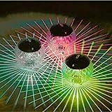 Mobestech 2PCS Solar Float Light Magic Magic Pool Piscina Luces Decoración pool light Pond (luz amarilla)
