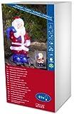 Konstsmide 6153-203 Babbo Natale in acrilico a LED, 48 diodi a luce bianca fredda, trasformatore esterno 24 V, 2,88 W, cavo trasparente