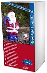 Idea Regalo - Konstsmide Acrylic Santa, LED 48lamp(s) Suitable for outdoor use LED Multicolour - Decoration Lighting (LED, 48 lamp(s), LED, White, Multicolour, IP20, 360 mm)