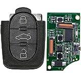 Auto Schlüssel Funk Fernbedienung 1x Gehäuse + 1 x 433,9 MHz Sender Sendeeinheit 4D0837231A + 1x Batterie für Audi