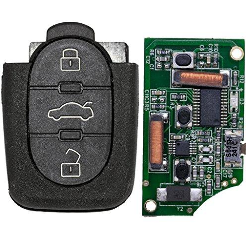 Oem-platine (Auto Schlüssel Funk Fernbedienung 1x Gehäuse + 1x 433,9 MHz Sender Sendeeinheit 4D0837231K + 1x Batterie für Audi)