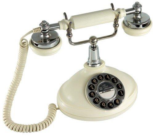 GPO 1920SPUSH Klassisches Telefon 20er Jahre Design Creme -