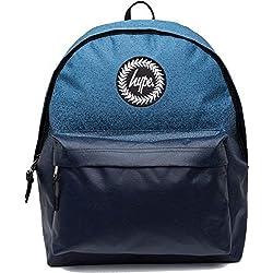 HYPE Mochila BOLSAS MOCHILAS - Colegio Mochila - VARIOS NUEVOS Colores & Diseños - Elegir tu favorito de 40 Estilos - Moteado Desteñido Azul