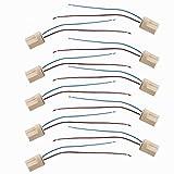 ELINKUME 10er-Pack G9 Adapter Lampe Licht Buchse Basis Sockel Schraubsockel Stecksockel Fassung Keramik Zwischenstecker für LED Lampen
