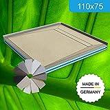 Duschboard 110x75 mit Duschrinne 60 cm Komplett - Set