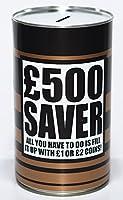 £500 Saver Cash Can Savings Tin - Large