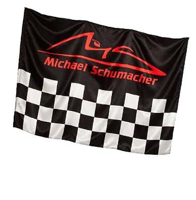 """Michael Schumacher Drapeau Drapeau """"Quadrillés"""", multicolore, Tailles 140 x 100 cm"""