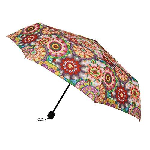 Signare Mode Kompakte Regenschirm Faltbarer Regenschirm fur Damen Stil Modell Kaleidoskop