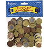 RESSOURCES D'APPRENTISSAGE Euro Coin Assortiment Lecture Money - 100 pièces