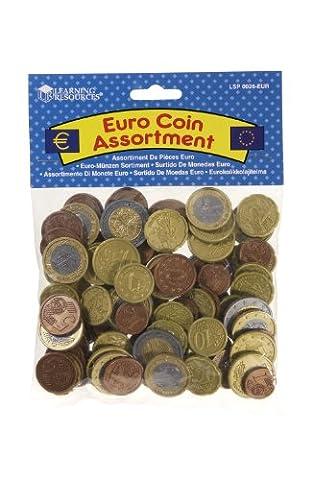 RESSOURCES D'APPRENTISSAGE Euro Coin Assortiment Lecture Money - 100