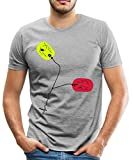 Spreadshirt Defibrillator Paddles Männer Premium T-Shirt, L, Grau meliert