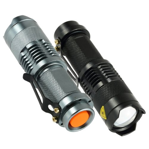 7W 300LM Mini LED Taschenlampe Taschenlampe Einstellbarer Fokus Zoom Licht Lampe