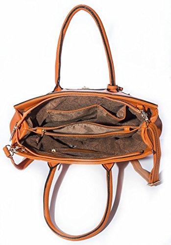 Big Handbag Shop Damen Handtasche Kunstleder Designer-inspiriert Türkis