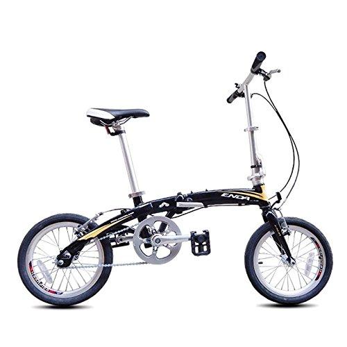 MASLEID 16 pouces vélo pliant en alliage d'aluminium à une seule vitesse mini-vélo ultraportable