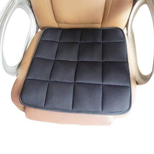 EQLEF® Auto Sitzkissen,Natürliche Bambus-Kohle-Polster Bürostuhl Kissen Auto Sitzkissen Anti-Skid Kissen - Schwarz