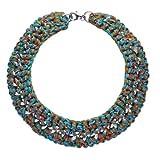 Maui SCC60186084-Scooter Damen-Halskette Metall, Multi, blau