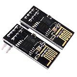 Kuman 2PCS ESP8266 ESP-01 Módulo de Transceptor Inalámbrico WiFi 1MB de Flash en Espuma Antiestática Compatible con Arduino KY45