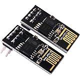 Kuman 2pcs Esp-01 Module émetteur-récepteur Wi-Fi Série pour Arduino Uno R3 Mega2560 Nano KY45 Serial WIFI Wireless Transceiver