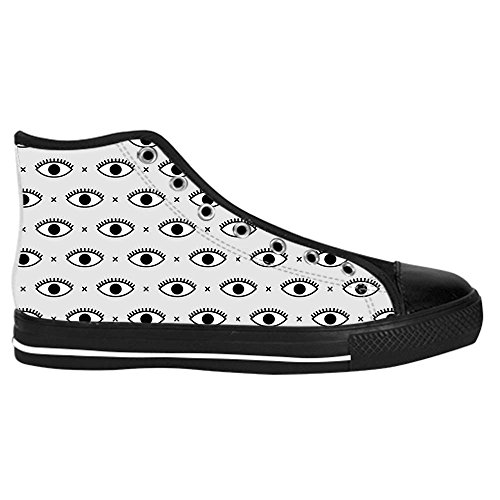 dalliy Eye Pattern Mens Canvas Shoes Chaussures Lace Up High Top pour Sneakers Toile Chaussures de chaussures de toile chaussures de sport B