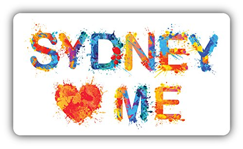 sydney-loves-me-slogan-decoration-del-arte-pegatina-12-x-8-cm