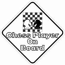 5in x 5en jugador de ajedrez a bordo de imán vinilo magnético Hobby Bumper por stickertalk®