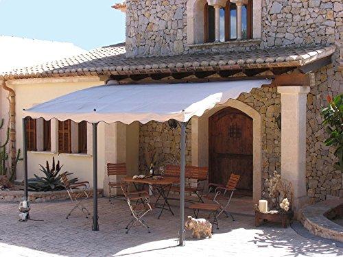 Anbaupergola Mallorca 400x300cm Sand