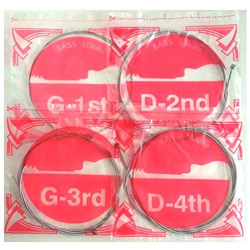 Power Slinky Hochwertige sechseckige Stahlsaiten für Bass Akustikgitarre elektrisch Bass Saitensätze mit 4 Saiten (G-1, G-2, G-3, G-4) Zubehör für Musikinstrumente.
