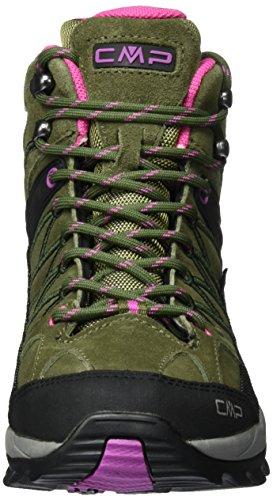 CMP Rigel Mid Wp, Chaussures de Randonnée Hautes Femme Vert (Olive-hot Pink)