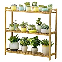 ZXCMNB Flower Stand, Bamboo Storage Rack, Bookcase Rack, Indoor And Outdoor Plant Stand