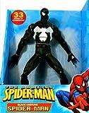 Amazing Spider-Man 12 Inch Deluxe Action Figure Black Costume Spider-Man by Spider-Man